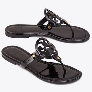 Tory Burch Black Miller Sandal, Patent Leather